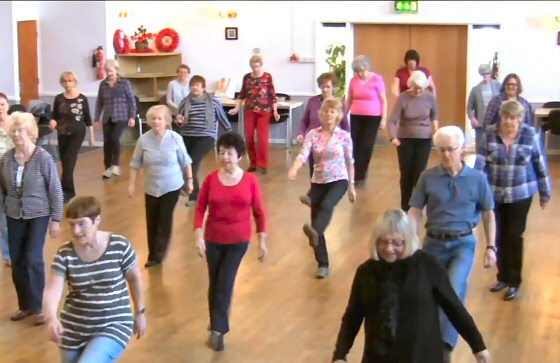 Line Dancing at Beverley Memorial Hall